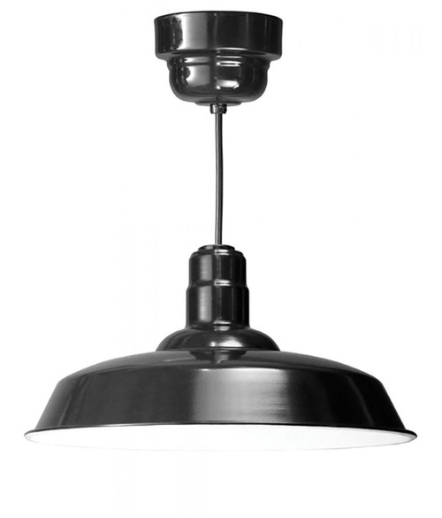American Nail Plate 20 Inch LED Nostalgic, Industrial Barn Warehouse shade Black Pendant Light-W520-M024LDNW40K-RTC-BLC-101