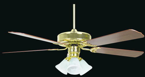 Sunset Heritage 52-Inch Wood Finish Gold Ceiling Fan CF52836-10-L