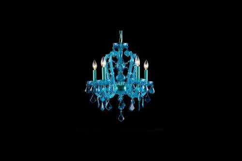 Avenue Light Ocean Dr 5 Light Blue Mini Chandelier-HF1037-BLU