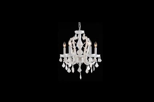 Avenue Light Casa Blanca Way 5 Light White Mini Chandelier-HF1037-WHT