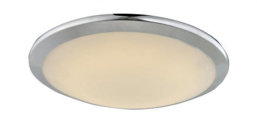 Avenue Light Cermack St 1 Light Chrome Flushmount Dome LED Ceiling Light-HF1101-CH