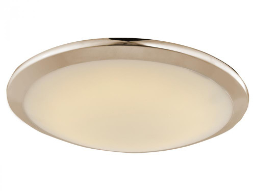 Avenue Light Cermack St 1 Light Nickel Flushmount Dome LED Ceiling Light-HF1102-BN