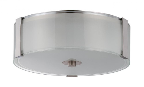 Sunset Rowley 3 Light Silver Flushmount Ceiling Light F3512-80