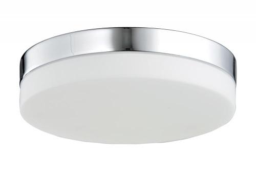 Avenue Light Cermack St 1 Light Chrome Flushmount Drum Shade LED Ceiling Light-HF1106-CH