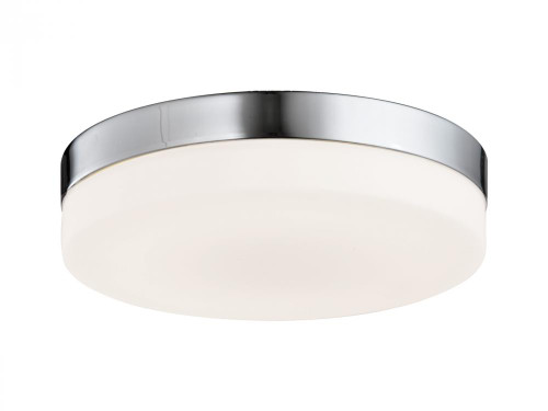 Avenue Light Cermack St 1 Light Nickel Flushmount Drum Shade LED Ceiling Light-HF1107-BN