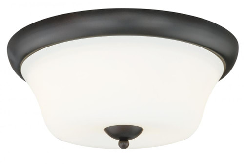 Vaxcel Poirot 2 Light Alabaster Flush Mount Ceiling Light C0064