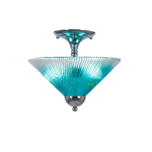Toltec 2 Light Blue Semi-Flush Mount Ceiling Light 120-CH-448