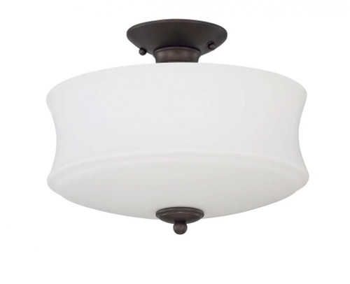 Sunset Amala 3 Light Black Modern Semi-Flush Mount Ceiling Light F20005-64