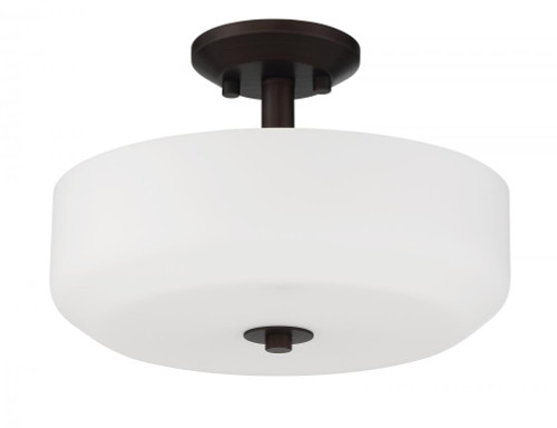 Sunset Quartz 3 Light Black Modern Semi-Flush Mount Ceiling Light F19036-64