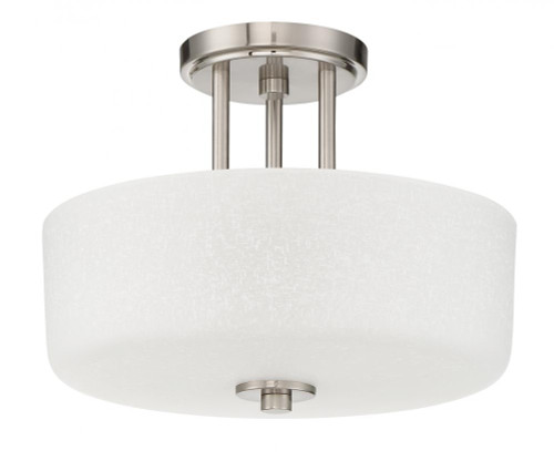 Sunset Somes 3 Light Silver Semi-Flush Mount Ceiling Light F17036-80