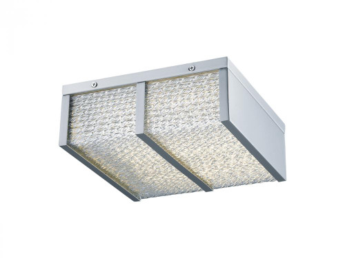 Avenue Light Cermack St 1 Light Chrome Flushmount Cage LED Ceiling Light-HF1124-CH