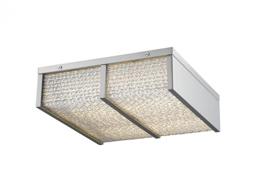 Avenue Light Cermack St 1 Light Nickel Flushmount Cage LED Ceiling Light-HF1125-BN