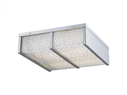 Avenue Light Cermack St 1 Light Chrome Flushmount Cage LED Ceiling Light-HF1125-CH