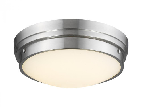 Avenue Light Cermack St 1 Light Nickel Flushmount Dome LED Ceiling Light-HF1160-BN