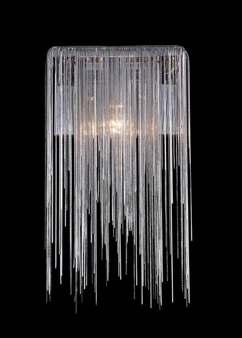 Avenue Light Fountain Ave Collection Chrome Jewlery Chain Wall Sconce Hf1200-Ch
