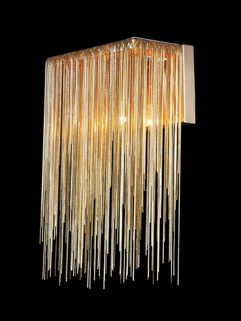 Avenue Light Fountain Ave Collection Gold Jewlery Chain Wall Sconce Hf1200-G