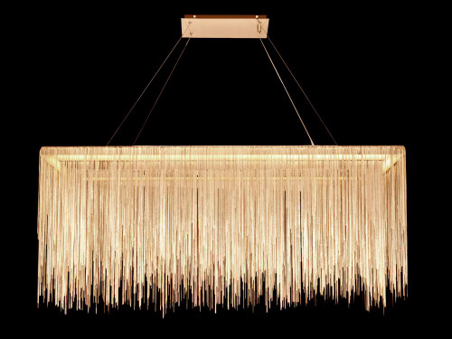 Avenue Light Fountain Blvd 8 Light Gold LED Linear Suspension Chandelier-HF1201-G