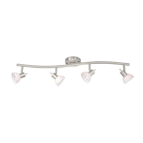 Vaxcel Como 4 Light S-Shape Track Bar Satin Nickel-SP53514SN