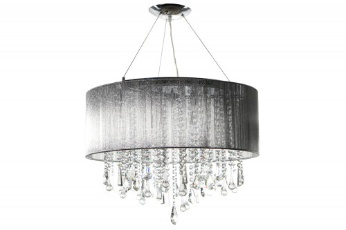 Avenue Light Beveryly Dr 6 Light Silver Silk String Chandelier-HF1500-SLV