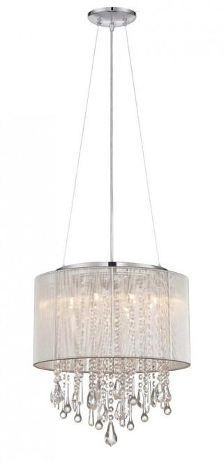Avenue Light Beveryly Dr 6 Light Silver Silk String Mini Chandelier-HF1501-SLV