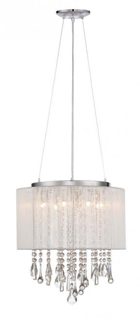 Avenue Light Beveryly Dr 6 Light White Silk String Mini Chandelier-HF1501-WHT