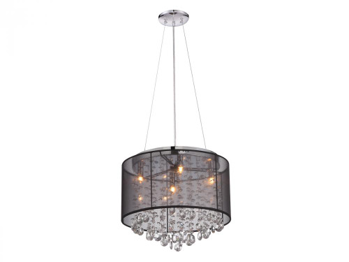 Avenue Light Riverside Dr 6 Light Black Mini Chandelier-HF1504-BLK