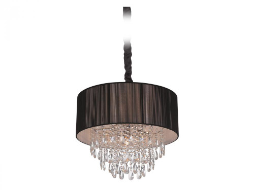 Avenue Light Vineland Ave 6 Light Black Chandelier-HF1506-BLK