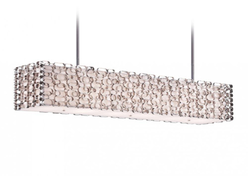 Avenue Light Ventura Blvd 6 Light Nickel Linear Suspension Chandelier-HF1701-PN