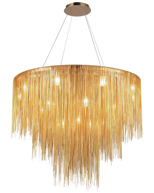 Avenue Light Fountain Blvd 18 Light LED Gold Chandelier-HF2222-GLD
