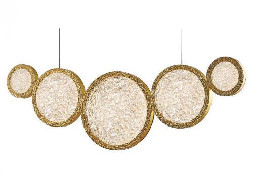 Avenue Light Bottega 5 Light Brass LED Linear Suspension Chandelier-HF5010-PB