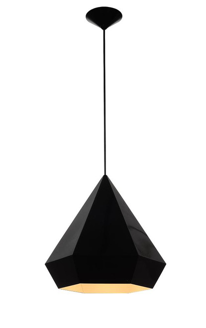 Avenue Light 14 Inch Doheny Ave Black Pendant Light-HF9115-BK