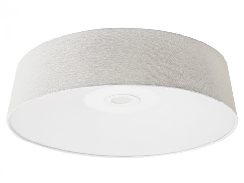 Avenue Light Cermack St 1 Light Ivory Flushmount Drum Shade LED Ceiling Light-HF9201-IVR