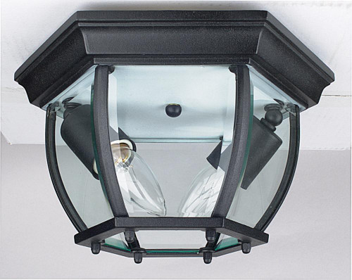 Sunset Curve Black Outdoor Pendant Light-F7898-31