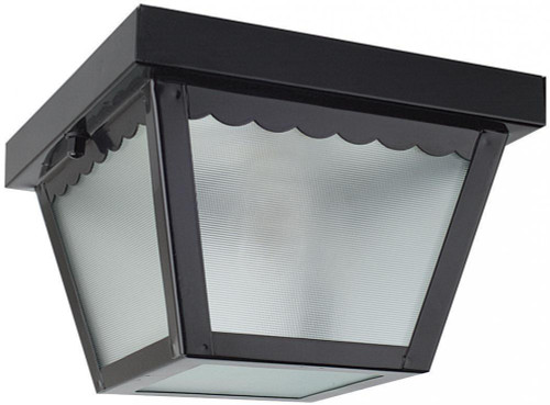 Sunset Garage Black Outdoor Pendant Light-F2400-31