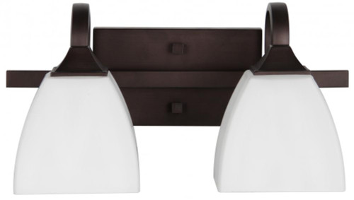 Sunset Starling 2-Light Black Bathroom Vanity Light F19012-64