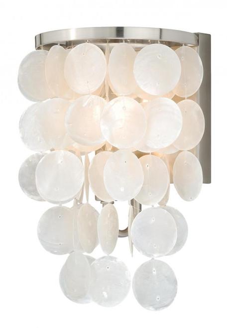 Vaxcel Elsa 1-Light & Satin Nickel Bathroom Vanity Light W0151
