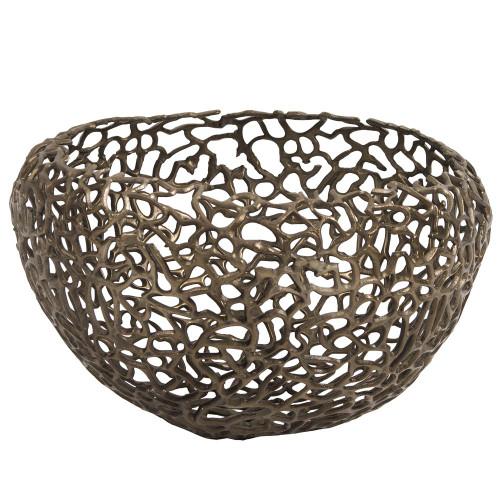 Howard Elliott Aluminum Bronze Nest Basket-35083