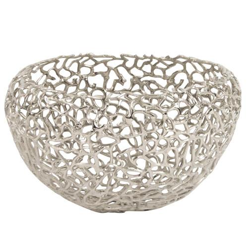 Howard Elliott Aluminum Silver Nest Basket-35082