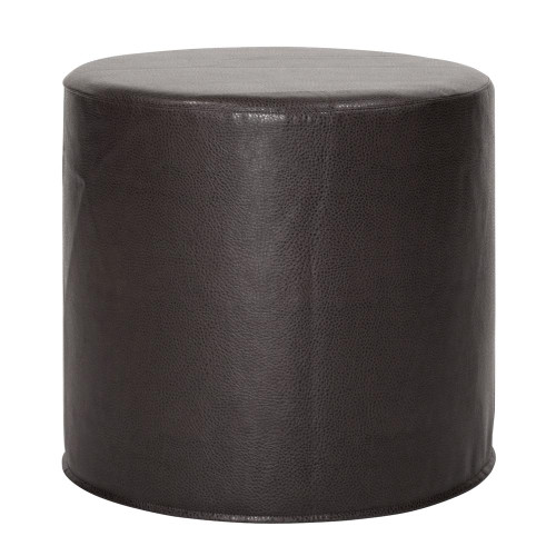 Howard Elliott Avanti Black No Tip Cylinder Ottoman-851-194