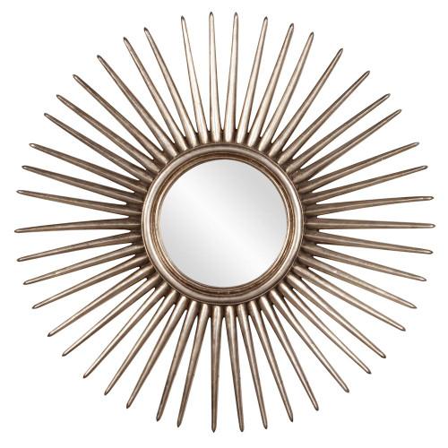 Howard Elliott Cascade Silver Leaf Starburst Mirror-84004