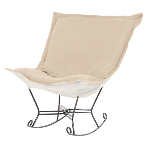 Howard Elliott Sterling Sand Scroll Puff Rocker Titanium Frame-600-203