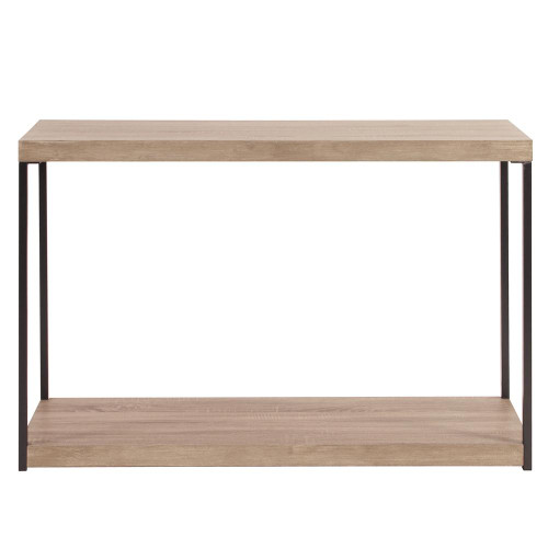 Howard Elliott Wood & Metal Console Table-83036