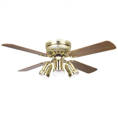 Concord 42 Inch Hugger Ceiling Fan W/4 Bullet Cb - Polished Brass 42Hug4Bb-Y408