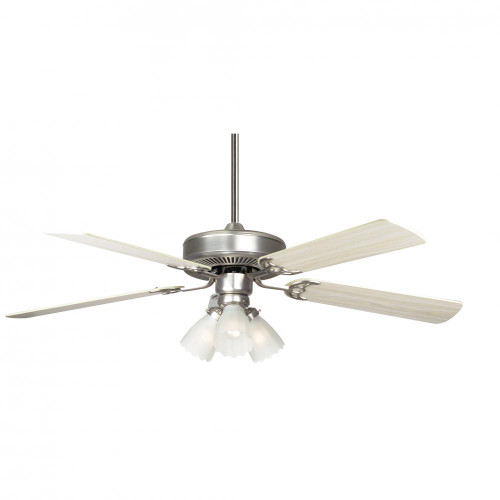 Concord 52 Inch Home Air Ceiling Fan W/ 3Lt Kit - Satin Nickel 52Ha5Esn