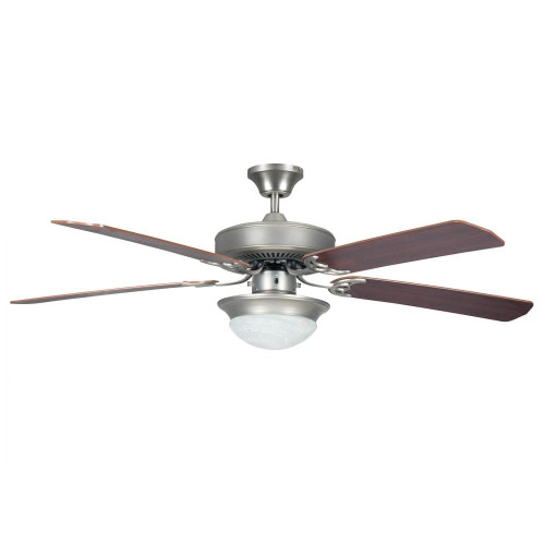 Concord 52 Inch Heritage Fusion Ceiling Fan W/2Light Mb Cfl Light Kit - Satin Nickel 52Hef5Sn