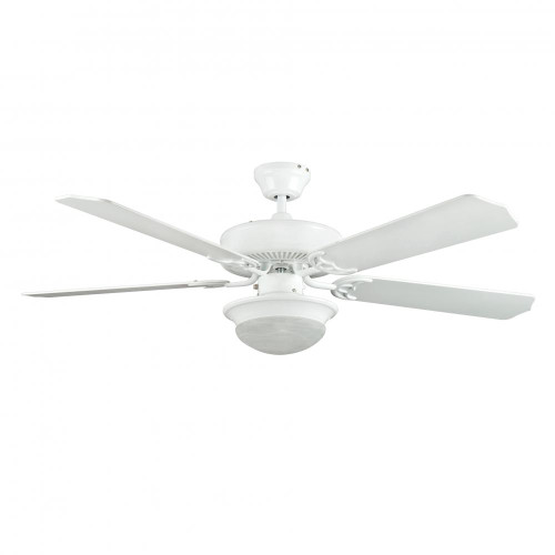 Concord 52 Inch Heritage Fusion Ceiling Fan W/2Light Mb Cfl Light Kit - White 52Hef5Wh