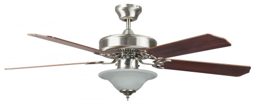 Concord 52 Inch Heritage Sq Ceiling Fan W/Bowl Lt - Stainless Steel 52Hes5Est