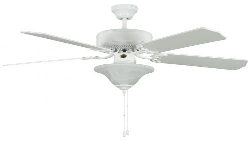 Concord 52 Inch Heritage Sq Ceiling Fan W/Bowl Lt - White 52Hes5Ewh