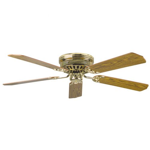 Concord 52 Inch Hugger Ceiling Fan W/Lt-Dk Blades - Polished Brass 52Hug5Bb