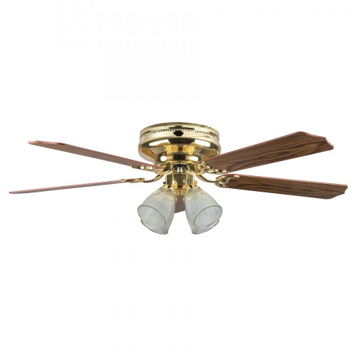 Concord 52 Inch Montego Bay Deluxe Ceiling Fan W/ 4Lt Kit - Polished Brass 52Mbd5Bb